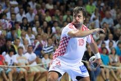 克罗地亚手球球员Zlatko Horvat 免版税库存照片