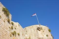 克罗地亚旗子 库存图片
