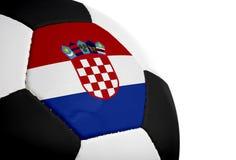 克罗地亚旗标橄榄球 免版税库存照片
