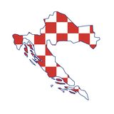 克罗地亚映射向量 皇族释放例证