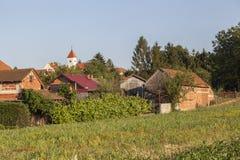 克罗地亚村庄 免版税图库摄影