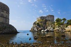 克罗地亚杜布罗夫尼克市堡垒城镇 免版税图库摄影
