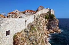克罗地亚杜布罗夫尼克市堡垒 免版税库存照片