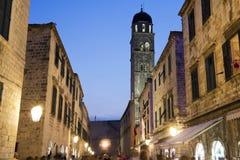 克罗地亚杜布罗夫尼克市老城镇 免版税库存照片