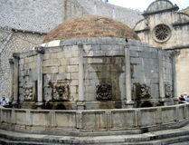 克罗地亚杜布罗夫尼克市 大Onofrio的喷泉 库存照片