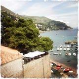 克罗地亚杜布罗夫尼克市 海和风景 免版税库存照片