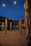 克罗地亚杜布罗夫尼克市 老港口的夜视图 库存图片