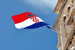 克罗地亚标志正式原始比例 免版税库存图片