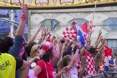 克罗地亚橄榄球fans_8 免版税库存照片