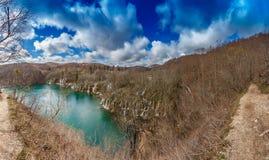 克罗地亚欧洲最大的国家最旧的公园plitvice东南瀑布 库存图片