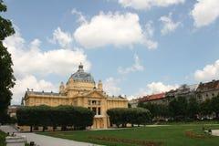 克罗地亚欧盟成员/萨格勒布/艺术亭子 免版税图库摄影