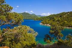 克罗地亚海岛湖mljet 库存照片