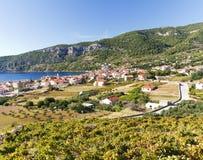 克罗地亚海岛komiza力 免版税库存图片