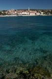 克罗地亚海岛krk城镇 免版税库存图片