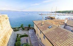 克罗地亚海岛krk 免版税库存照片
