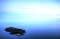 克罗地亚海岛lokrum 图库摄影