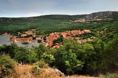 克罗地亚海岸镇Bakar 库存照片
