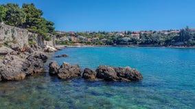 克罗地亚海滩 免版税图库摄影