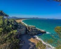 克罗地亚海滩 库存照片