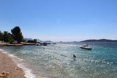 克罗地亚海滩 库存图片