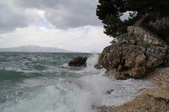克罗地亚海运 免版税图库摄影