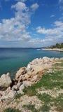 克罗地亚海滩 免版税库存图片