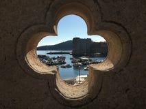 克罗地亚港口 库存照片