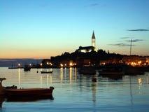 克罗地亚港口rovinj 免版税库存照片