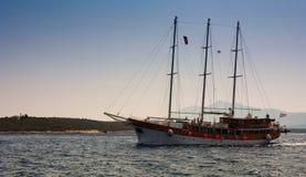 克罗地亚游艇 库存照片