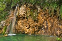 克罗地亚湖国家公园plitvice瀑布 免版税库存图片
