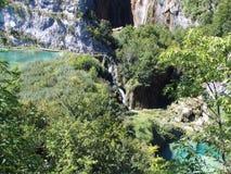 克罗地亚湖国家公园plitvice 库存照片