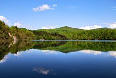 克罗地亚湖国家公园plitvice 免版税库存图片
