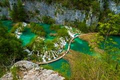 克罗地亚湖国家公园plitvice 免版税图库摄影