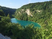 克罗地亚湖国家公园plitvice sostavtsy瀑布 图库摄影