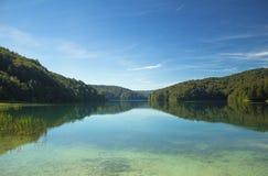 克罗地亚湖国家公园plitvice sostavtsy瀑布 库存照片