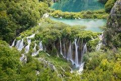 克罗地亚湖plitvice 库存照片