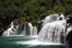 克罗地亚瀑布 库存照片