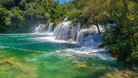 克罗地亚瀑布 库存图片