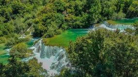 克罗地亚瀑布 图库摄影