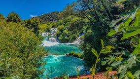 克罗地亚瀑布 免版税库存照片
