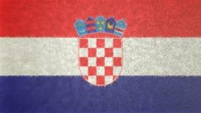 克罗地亚的旗子的原始的3D图象 免版税图库摄影