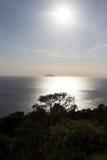 克罗地亚的海岸线 图库摄影