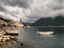 克罗地亚的海视图 杜布罗夫尼克市 Cavtat 库存照片