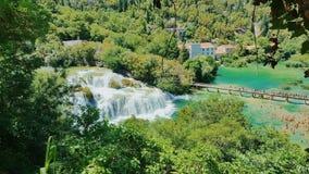 克罗地亚的瀑布 免版税库存照片