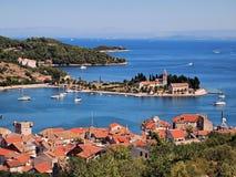 克罗地亚端口力 免版税库存照片
