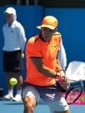 克罗地亚网球员Borna Coric为澳网做准备在Kooyong经典陈列比赛 免版税库存照片