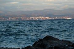克罗地亚美丽的海 库存照片