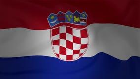 克罗地亚美好的动画旗子  股票录像