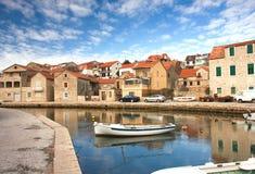 克罗地亚老城镇视图 库存照片
