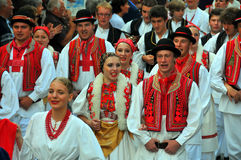 克罗地亚舞蹈组 免版税库存图片